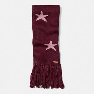 Coach Intarsia Star Scarf